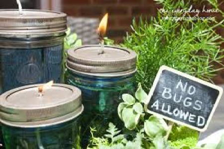 Summer Centerpiece with Homemade Citronella Candles   The Everyday Home