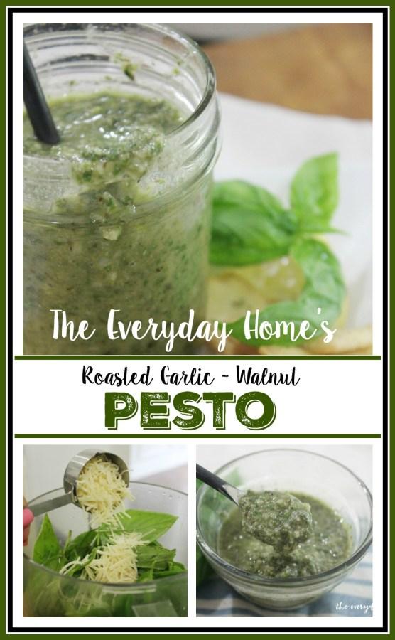 Homemade Roasted Garlic Pesto Recipe | The Everyday Home | www.everydayhomeblog.com