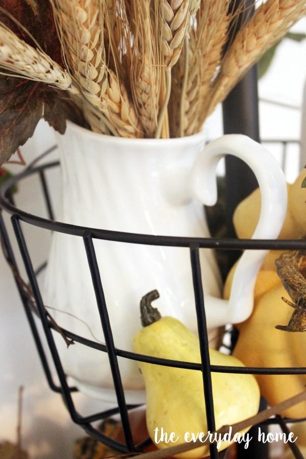 Creating a Fall Tiered Stand | The Everyday Home Blog | www.everydayhomeblog.com