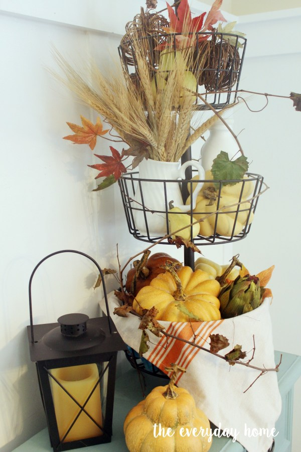 Styling a Fall Metal Tiered Stand | The Everyday Home | www.everydayhomeblog.com