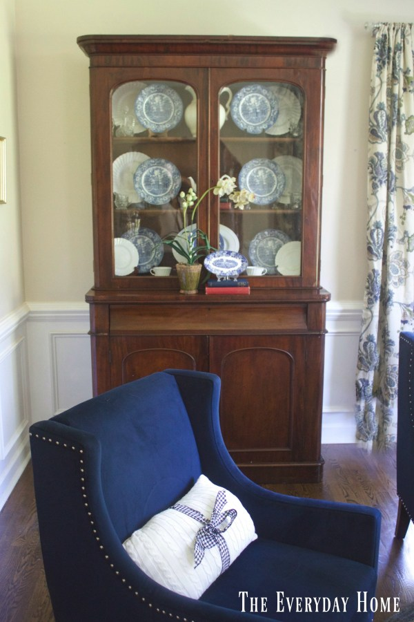 displaying-dishes-in-a-hutch | The Everyday Home | www.everydayhomeblog.com