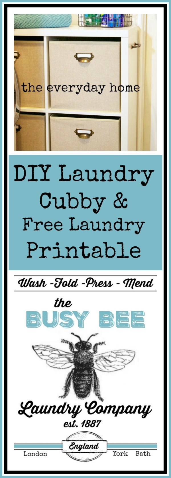 diy-laundry-cubby-on-wheels-and-laundry-printable | The Everyday Home | www.everydayhomeblog.com