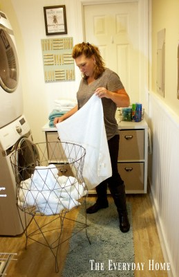 DIY Laundry Room Cubby