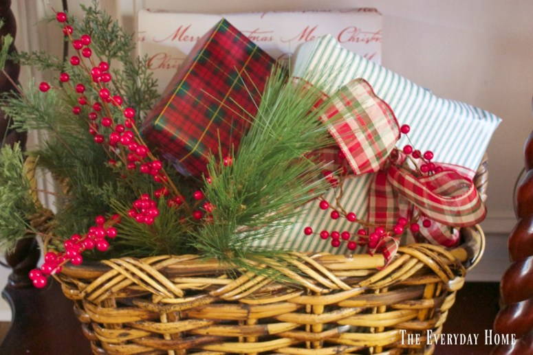 dining-room-buffet-for-christmas-wrapped-packages