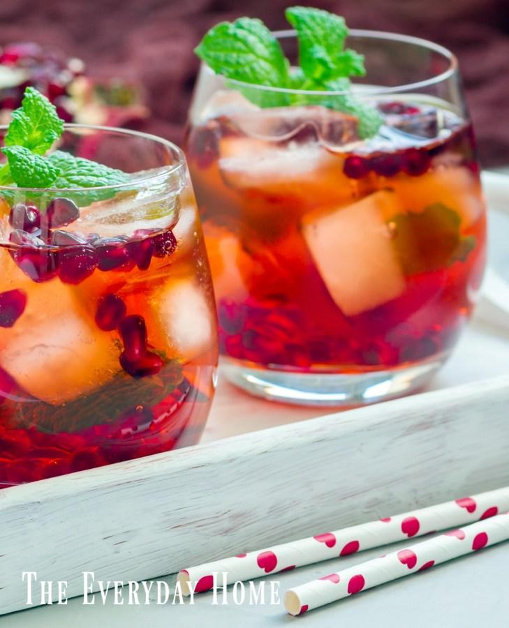Pomegranate Mojito Cocktails