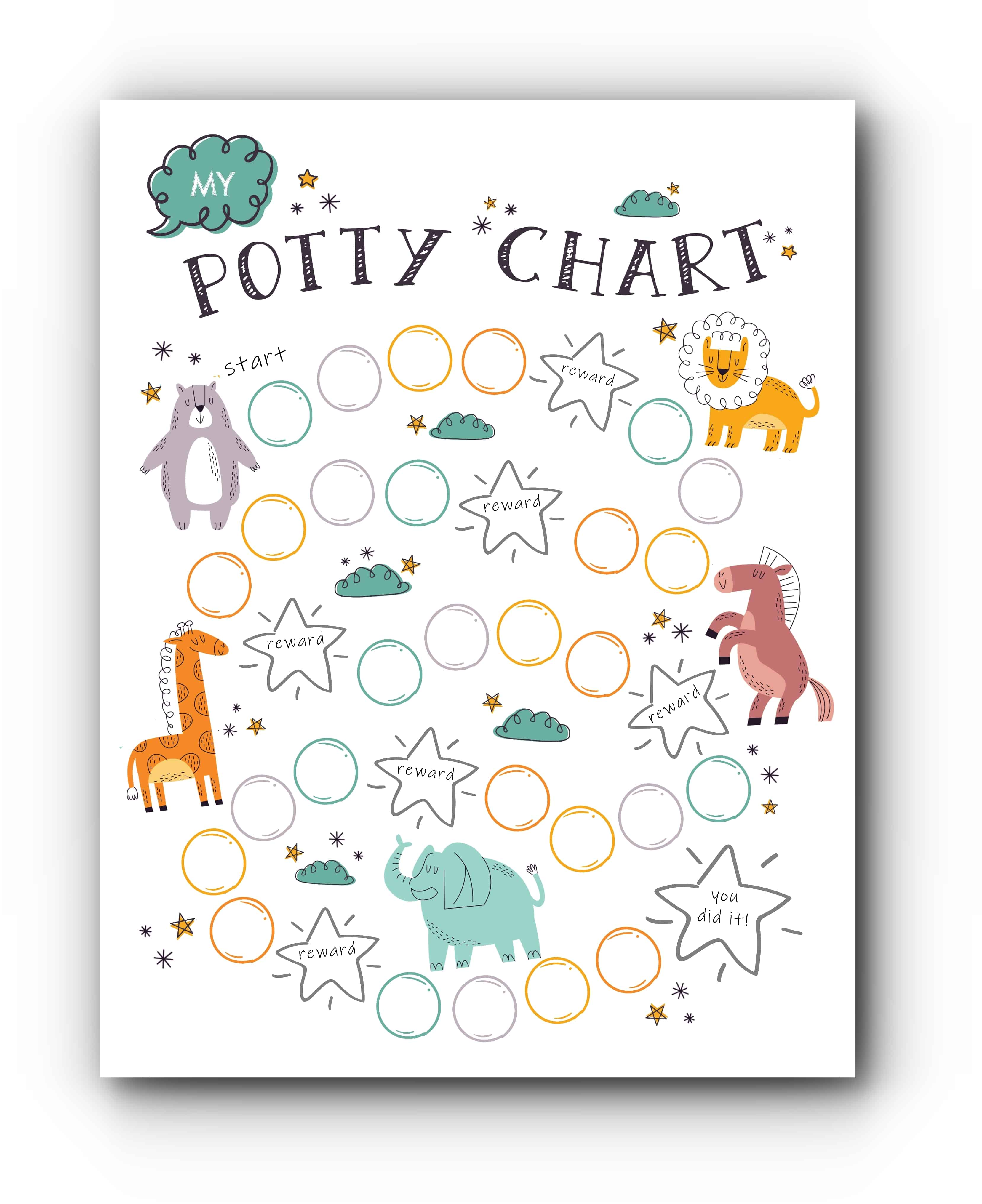 This is an image of Printable Potty Training Chart inside minnie mouse
