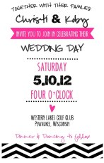 Chevron Collection - Wedding Invite (front)