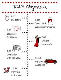 Dot - Wedding Day Timeline (front)