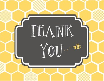 Mom to Bee - Thank You Card