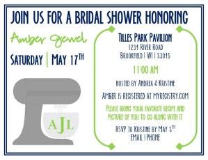 Kitchen-themed Bridal Shower