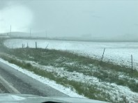 snow on our way from Salt Lake City