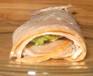 Healthy Snack: Avocado Turkey Roll-Ups