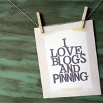 I Love Blogs and Pinning Poster Printable
