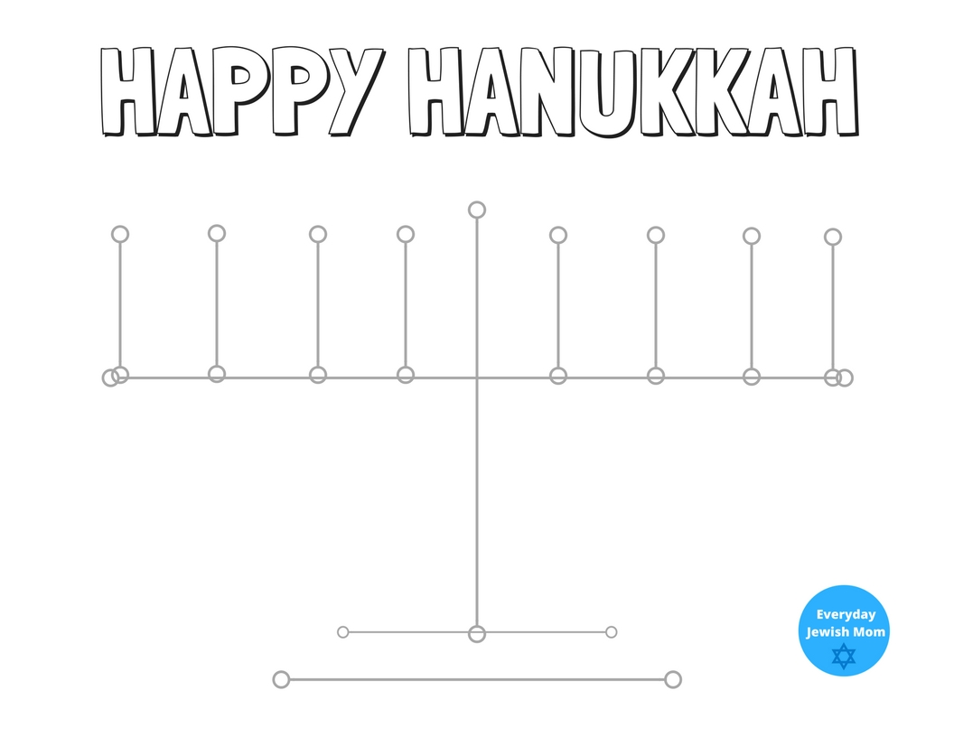Washi Tape Menorah Template