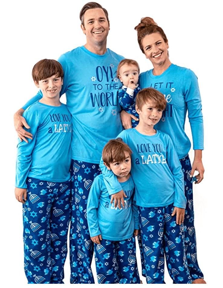 oy to the world Hanukkah Pajamas