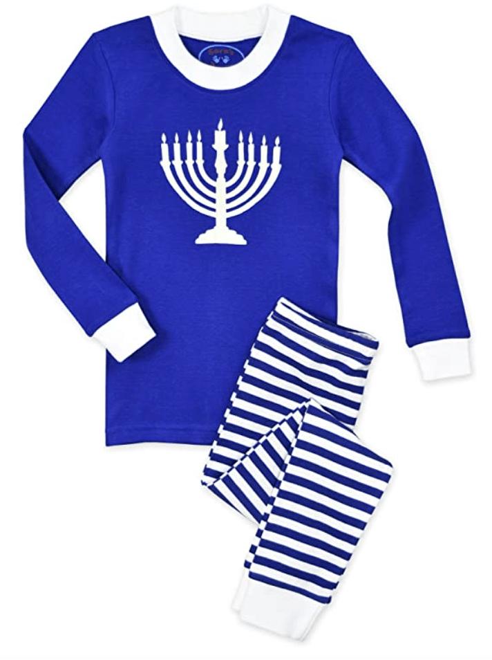 menorah Hanukkah Pajamas