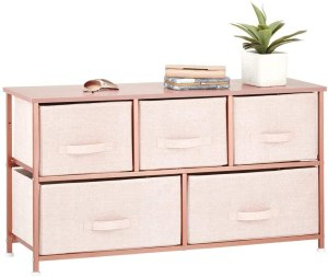 rose gold storage table