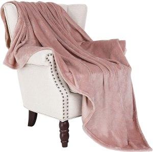 plush throw blanket for office decor