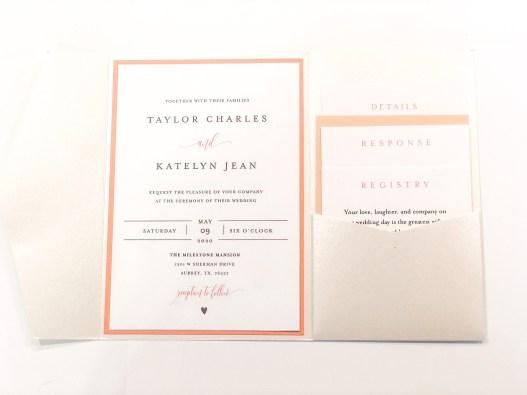 DIY Wedding Pocket Invitations