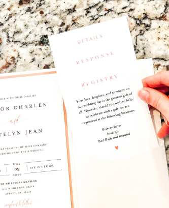 DIY Wedding Pocket Invitations - Step 2