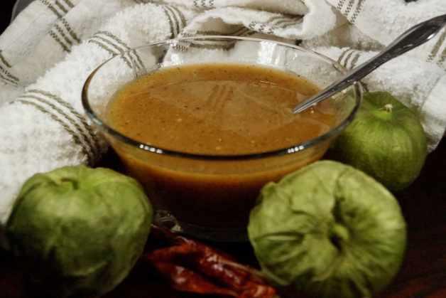 Roasted Tomatillo Salsa with Chile de Arbol #chiledearbolsalsa #tomatillosalsa