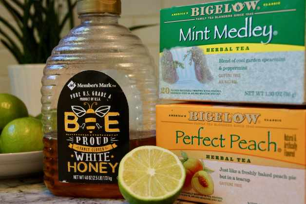 Ingredients for homemade medicine ball tea #medicineballtea #herbalteaforcolds