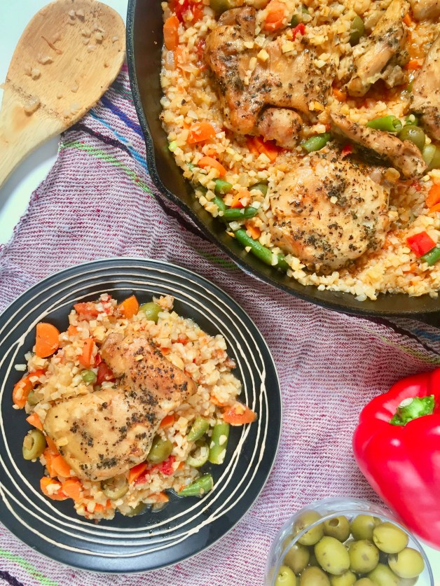 Mexican Cauliflower Arroz con Pollo
