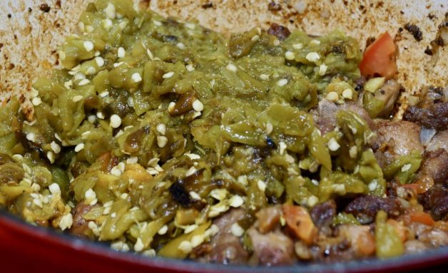 Pork green chile #porkgreenchilewithspinach