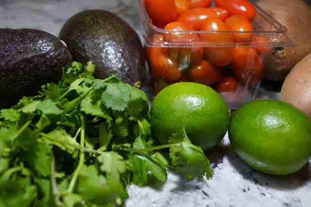 Ingredients for Sweet Potato and Avocado Salad #whole30recipes #sweetpotatosalad