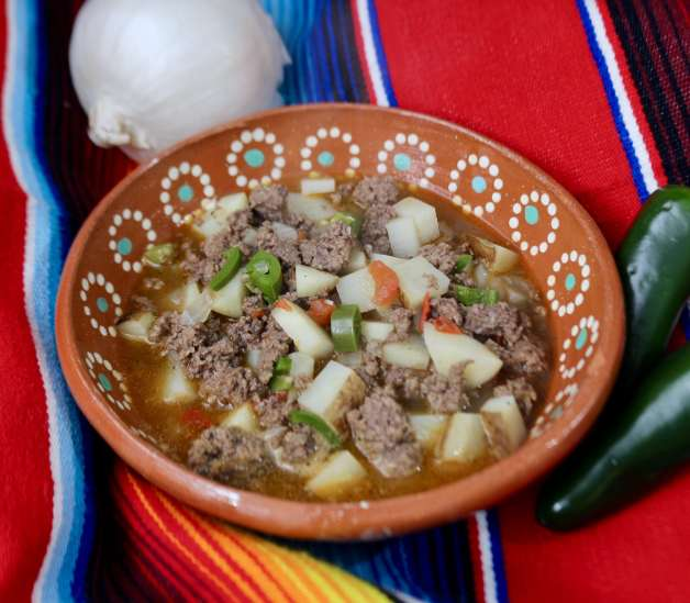 Ground Beef Stew with Jalapeño