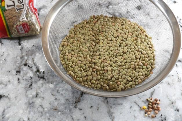 Cleaning lentils #lentils