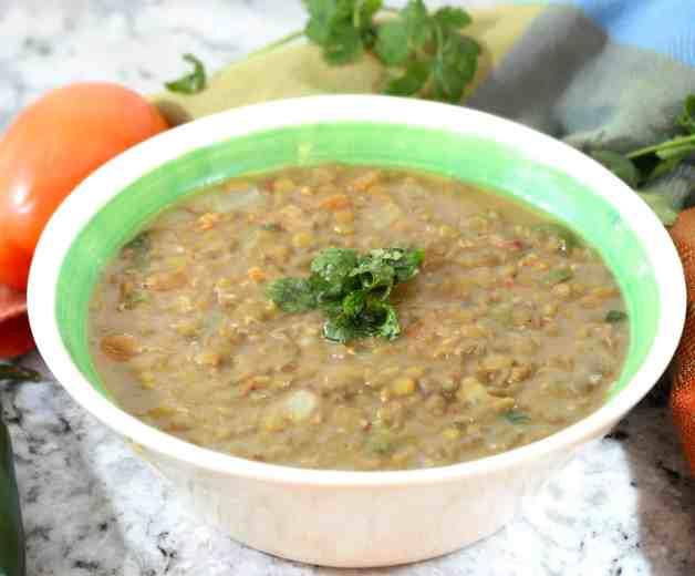 Instant Pot Jalapeño Bacon Lentils #lentils #mexicanlentilsoup #instantpotlentils