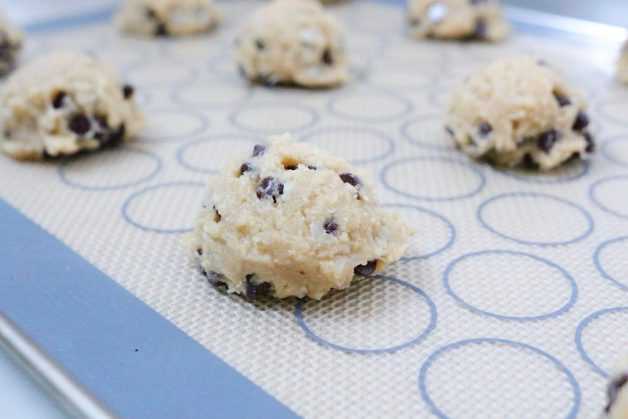 Almond flour cookies #chocolatechipalmondcookies