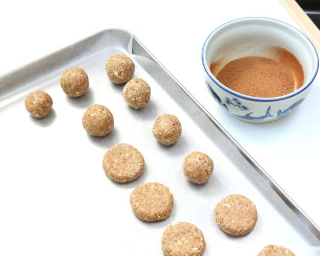 Preparing gluten-free kid snacks #coconutcinnamonbites #healthykidfoods #glutenfreesnacks
