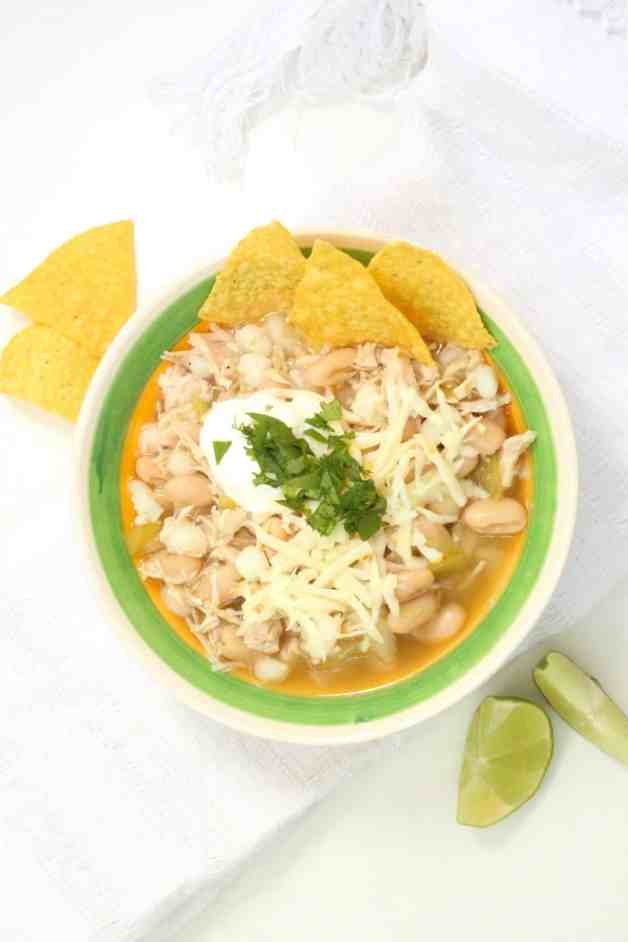Pantry White Chicken Chili with Hominy