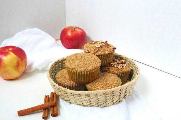 Gluten Free Apple Oat Muffins #glutenfreeapplemuffins #appleoatmuffins