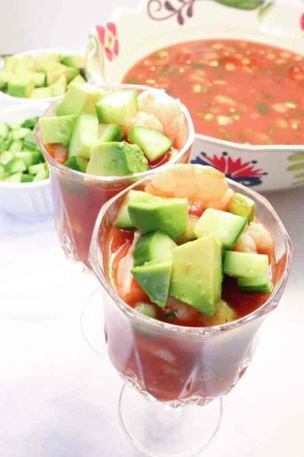 Coctel de Camarones (Mexican Shrimp Cocktail) #cocteldecamarones #whole30recipes #shrimpcocktail #whole30mexicanrecipes