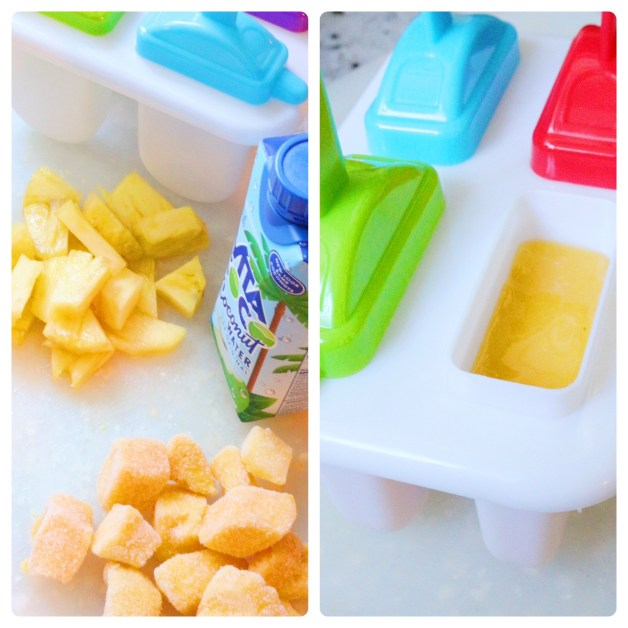Making tropical popsicles