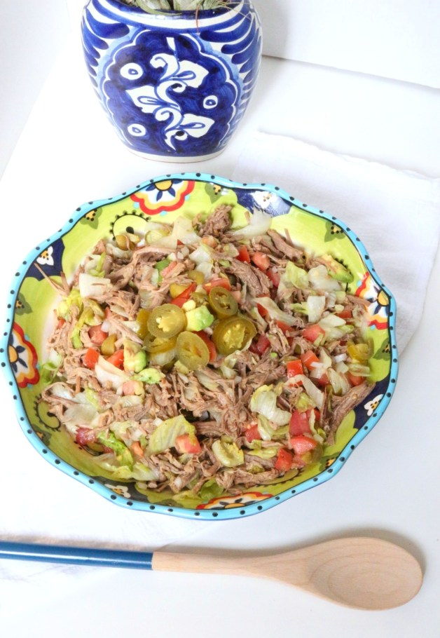 Salpicon (Mexican Shredded Beef Salad) #salpicon #mexicanshreddedbeefsalad