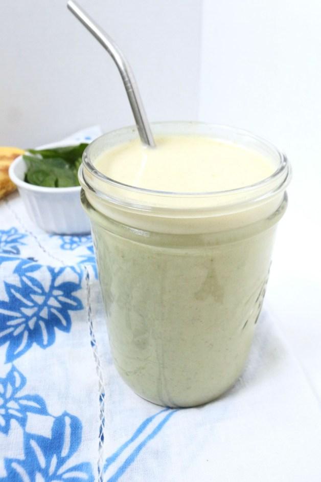 Creamy Almond Butter Banana Smoothie #smoothie #smoothierecipe #almondbuttersmoothie