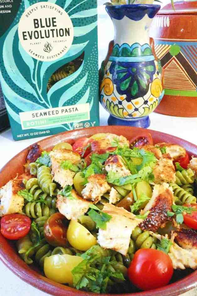 Healthy Cilantro Lime Chicken Seaweed Pasta