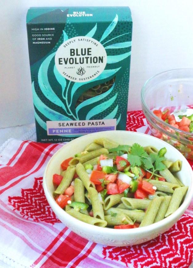 Pico de Gallo Seaweed Pasta with Blue Evolution #seaweedpasta #picodegallo #pastarecipe