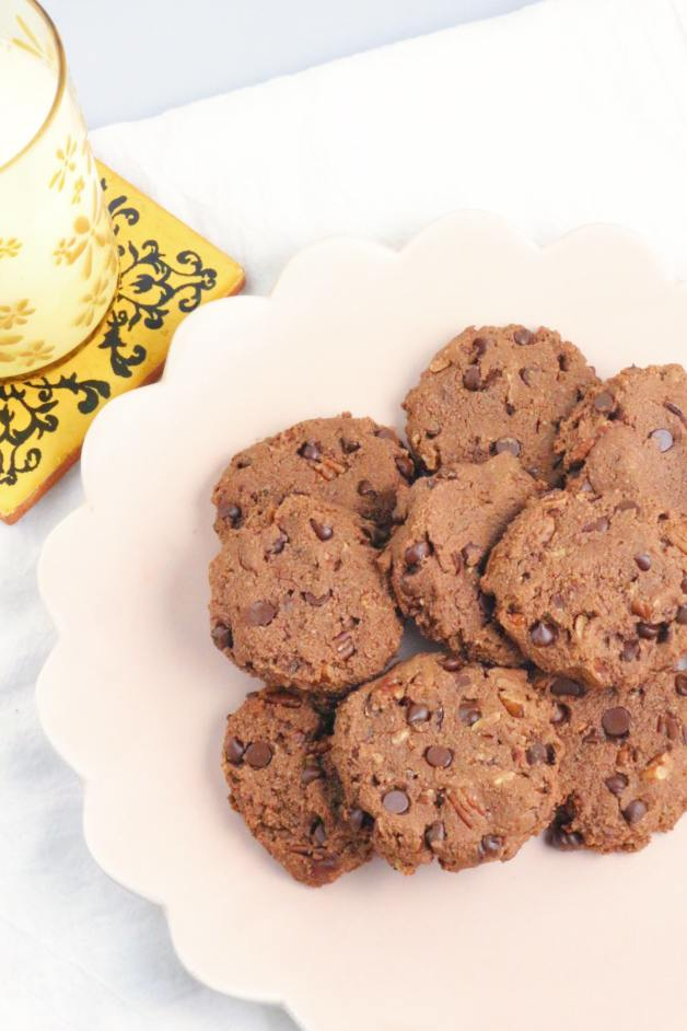 Double Chocolate Almond Flour Cookies #almondflourcookies #doublechocolatecookies
