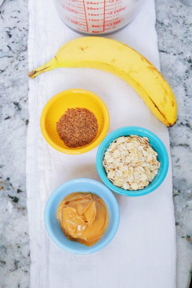 Ingredients for smoothie #peanutbutteroatmeal #smoothie