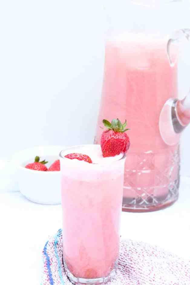 Creamy Strawberry Agua Fresca (Dairy-Free)