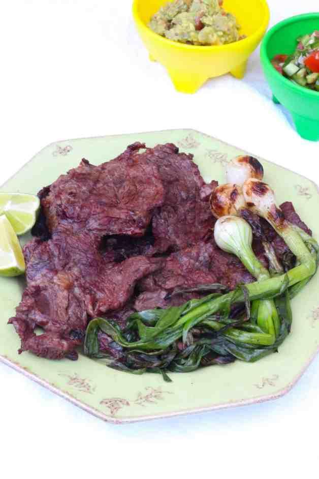 Chuck Roast Carne Asada with Cebollitas