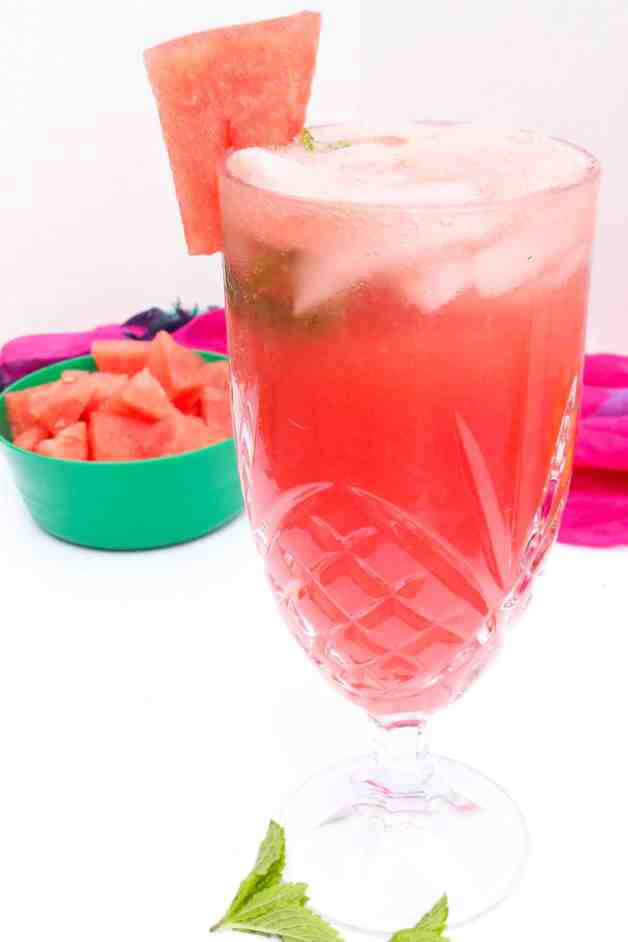 Sparkling Watermelon Agua Fresca #aguafresca #sparklingaguafresca #watermelonaguafresca
