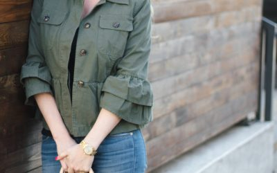 3 WAYS TO WEAR THIS PEPLUM UTILITY JACKET I'M OBSESSED WITH