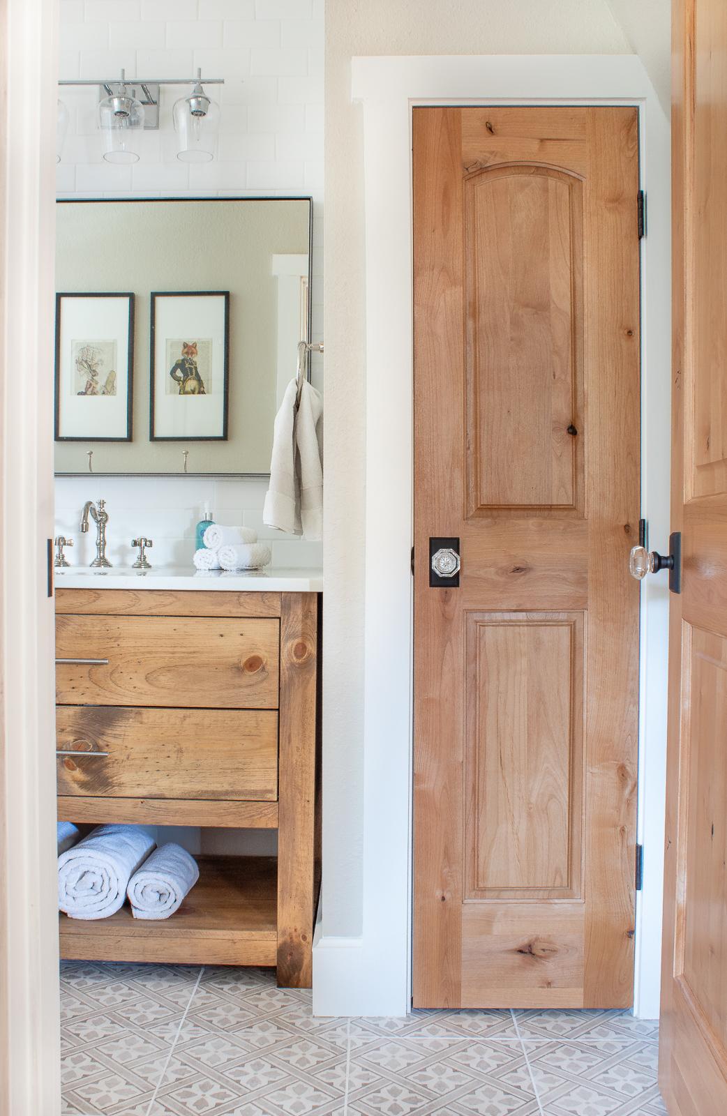 Modern cabin bathroom remodel