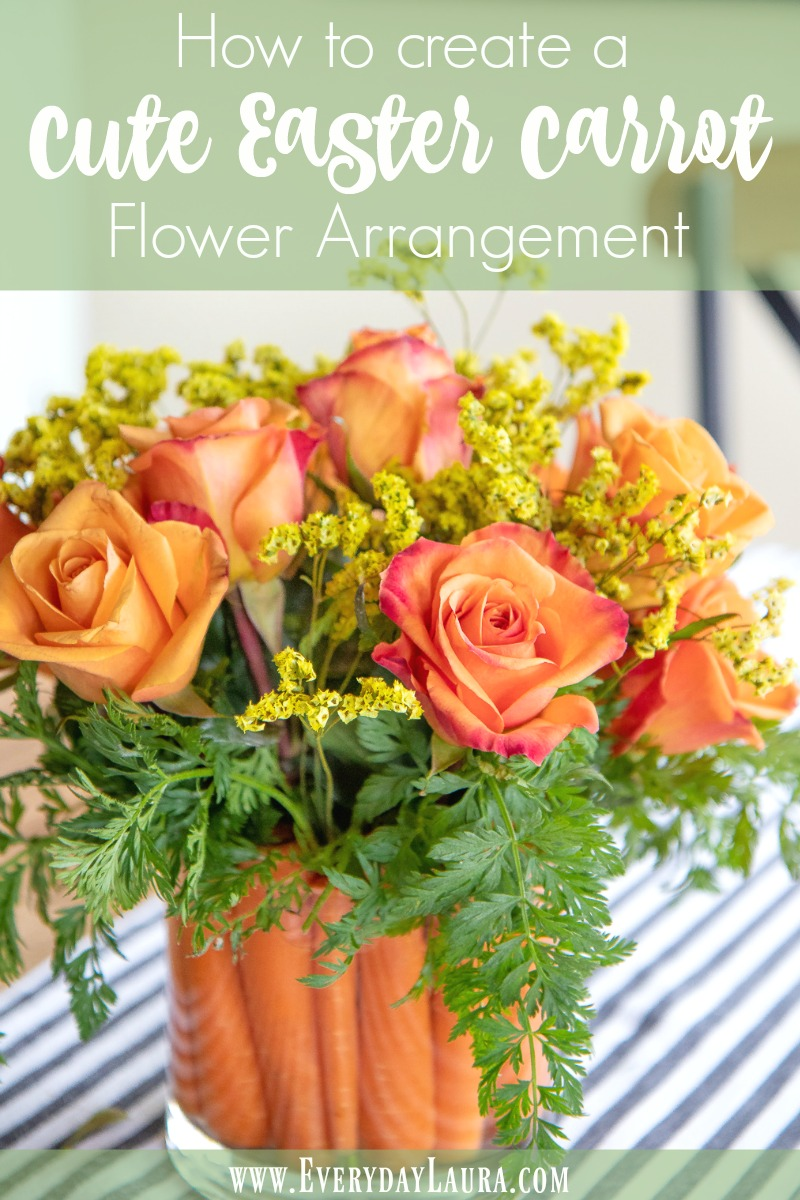 How to create a cute Easter carrot flower arrangement in just minutes.